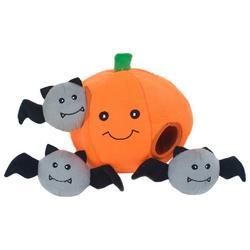 Halloween Pumpkin Burrow Dog Toy