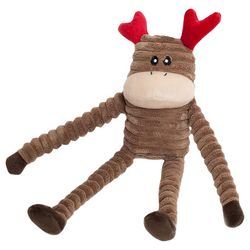 Zippy Paws Holiday Crinkle Reindeer Small Dog Toy