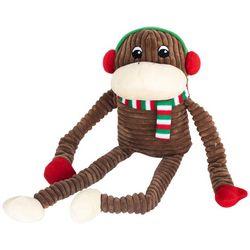 Zippy Paws Holiday Crinkle Monkey XL Dog Toy