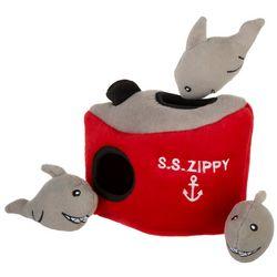 Zippy Paws Shark 'N Ship Burrow Dog Toy