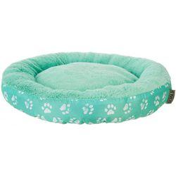 Details Paw Print Round Dog Bed
