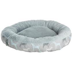 Dog Print Round Dog Bed