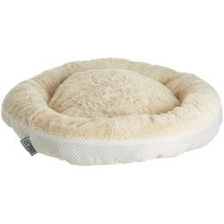 Details Dotted Print Round Dog Bed