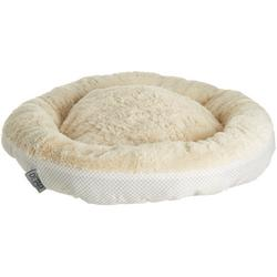 Dotted Print Round Dog Bed