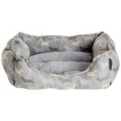 Dog Print Cuddler Dog Bed