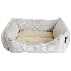 Details Dotted Print Cuddler Dog Bed
