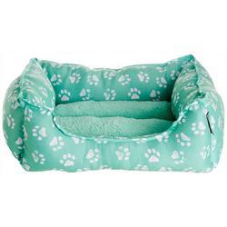 Paw Print Cuddler Dog Bed