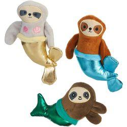 3-pc. Mermaid Sloths Mini Plush Dog Toy