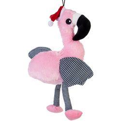 14'' Christmas Flamingo Plush Dog Toy