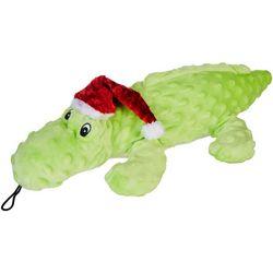 16'' Christmas Alligator Plush Dog Toy