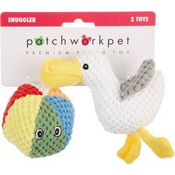 Patchwork Pet 2-pc. Beach Ball & Pelican Squeaker