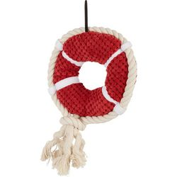 Patchwork Pet Life Preserver Squeaker Dog Toy