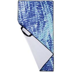 Devant Sport Towels Abstract Print Waffle Texture