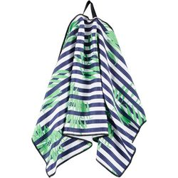 Stripe Frond Waffle Texture Golf Towel