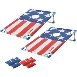 Red, White and Blue Cornhole Set