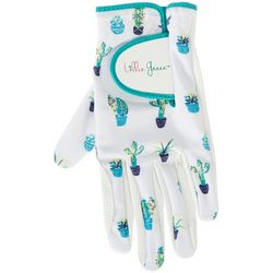 Womens Cactus Printed Golf Glove