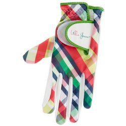 Womens Plaid Design Golf Glove