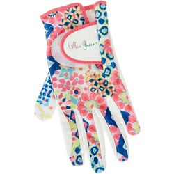 Lillie Green Womens Muted Geometric Print Golf Glove
