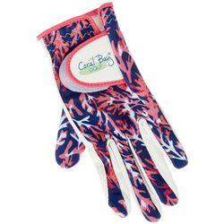 Womens Coral Print Golf Glove