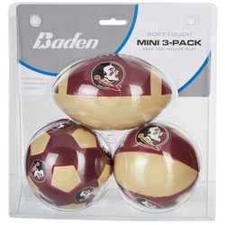 Florida State 3-pk. Mini Soft Football Basketball Soccer