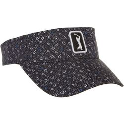 PGA TOUR Womens Floral Embroidered Logo Visor