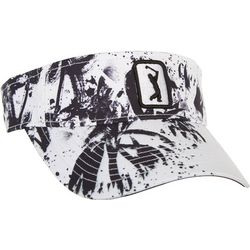 PGA TOUR Womens Paint Splatter Embroidered Logo Visor