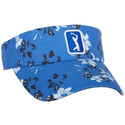 PGA TOUR Womens Falling Flowers Embroidered Logo Visor