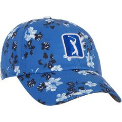 PGA TOUR Womens Falling Flowers Embroidered Logo Cap