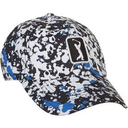 PGA TOUR Womens Paint Splatter Embroidered Logo Cap