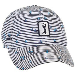 PGA Tour Womens Boat Stripe Embroidered Logo Cap