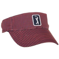 Womens Grid Print Embroidered Logo Visor