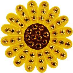 Navika Sunflower Crystal Cap Clip & Ball Marker