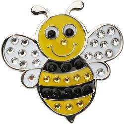Bee Crystal Cap Clip & Ball Marker Set