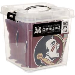 4-pc. Logo Corn Filled Cornhole Bag Set