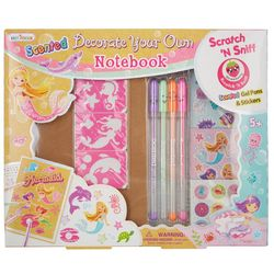 Hot Focus Mermaid Decorate Your Own Notebook Set