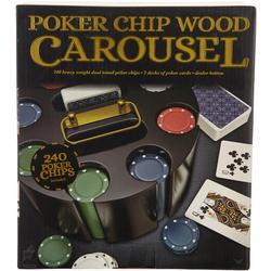 Poker Chip Wood Carousel
