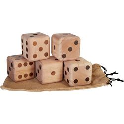 Giant Wood Dice Game