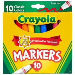 10 Count Nontoxic Broad Line Markers