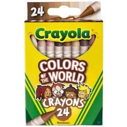 24 Count Colors Of The World Nontoxic Crayons