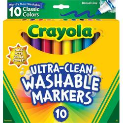 10 Count Broad Line Ultra-Clean Washable Markers