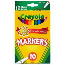 10 Count Nontoxic Fine Line Markers