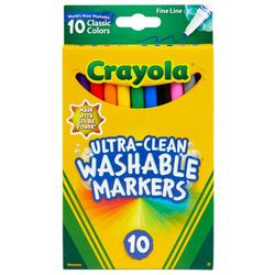 10 Count Fine Line Ultra-Clean Washable Markers