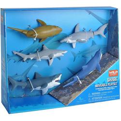 5-pc. Shark Moveable Play Set