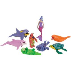 9-pc. Mermaid Moveable Play Set