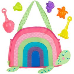 Stephen Joseph Girls Turtle Beach Tote & Sand Tools