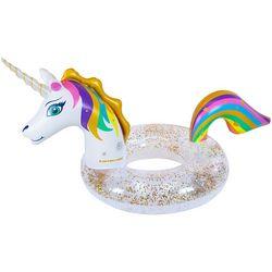 Swimline Unicorn LED Glitter Ring Pool Float