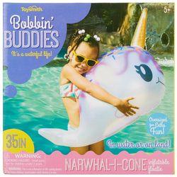 Toysmith Bobbin Buddies Narwhal-I-Cone Inflatable Floatie