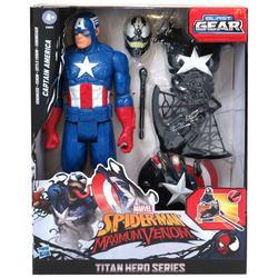 Maximum Venom Captain America Titan Hero Series