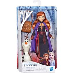 Frozen II Anna Doll Playset With Buildable Olaf
