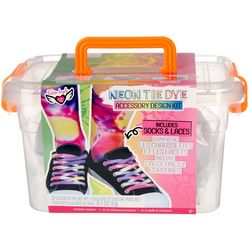 Fashion Angels Neon Tie Dye Socks & Laces Kit